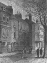HAMPSTEAD. Old Houses in Church Row. London c1880 antique print picture